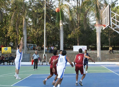 Bajaj - Employees Playing Basket Ball