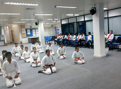 Karate Class for Employees at Bajaj